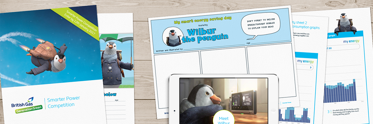 british gas resource montage with wilbur the penguin