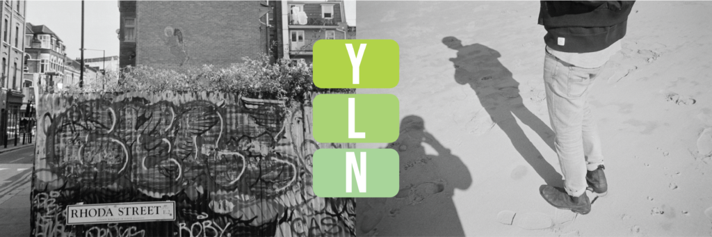 Young leaders network logo on photograph of rhoda street