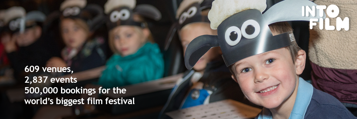young boy with sheep mask on and 609 venues, 2,837 events, 500,000 bookings for the world's biggest film festival