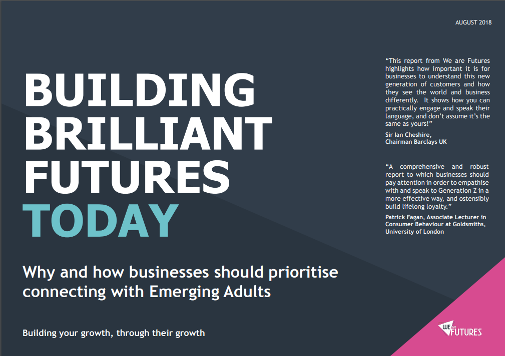 Report Front Cover: Building Brilliant Futures Today